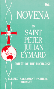 Cover of Novena to Saint Peter Julian Eymard: Priest of the Eucharist.