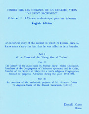 Cover of L'Oeuvre Eucharistique pour les Hommes (English edition)