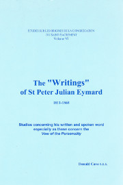 "Cover of The ""Writings"" of St Peter Julian Eymard 1811-1868"