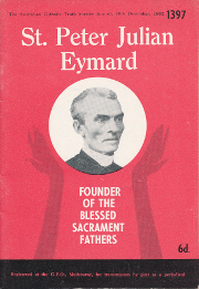 Cover of Saint Peter Julian Eymard: Founder of the Blessed Sacrament Fathers