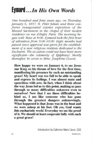 Eymard … In his own words. Emmanuel, 103(1), 50.