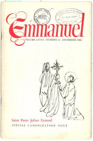 Emmanuel, 1962, 12, cover.