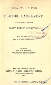 Cover of Sermons of the Blessed Sacrament