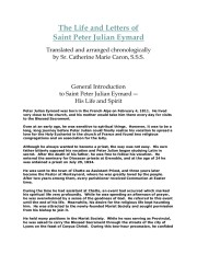 Life and letters of Saint Peter Julian Eymard.