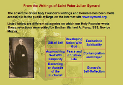 From the writings of Saint Peter Julian Eymard