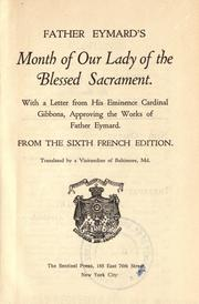 Cover of Month of Our Lady of the Blessed Sacrament