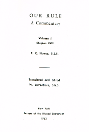 Cover of Our rule: A commentary