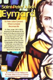 Cover of Saint Peter Julian Eymard