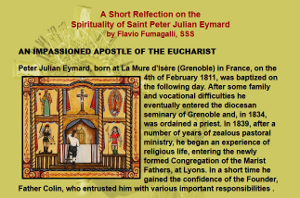 Snapshot from a page on A short reflection on the spirituality of Saint Peter Julian Eymard.
