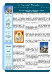 St.Francis' Newsletter, 2012, Aug., 1.