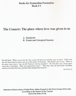 Cover of The Cenacle: A place of prayer