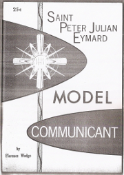Cover of Saint Peter Julian Eymard: Model communicant.